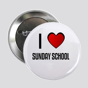 """I LOVE SUNDAY SCHOOL 2.25"""" Button (100 pack)"""