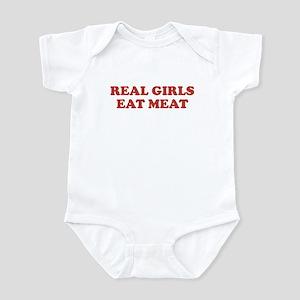 Real Girls Eat Meat Infant Bodysuit