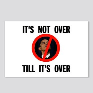 NOT OVER YET Postcards (Package of 8)