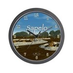 Sapelo Shell Rings Wall Clock