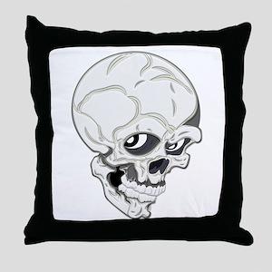 Ghoulish Skull Throw Pillow