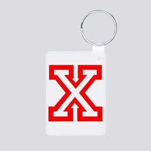 X - RED CAPITAL LETTER ATH Aluminum Photo Keychain