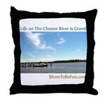 On The Chester River Throw Pillow
