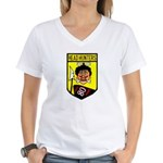 80th Fighter Squadron Women's V-Neck T-Shirt
