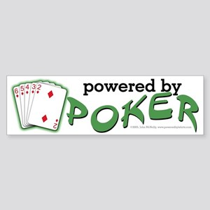 Powered By Poker Sticker (Bumper)