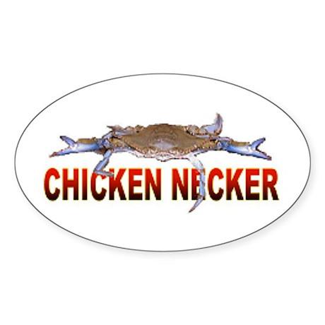 Chicken Necker Oval Sticker