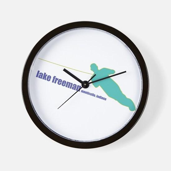 a water ski summer Wall Clock