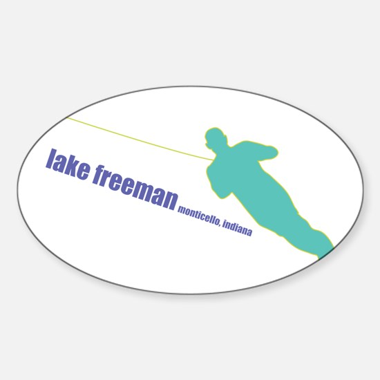 a water ski summer Oval Stickers