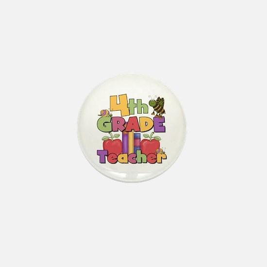 4th Grade Teacher Mini Button