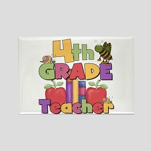 4th Grade Teacher Rectangle Magnet