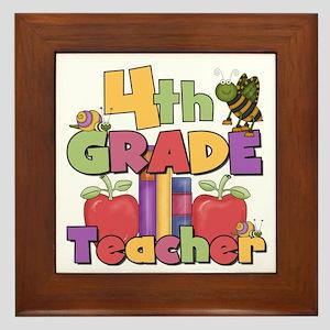 4th Grade Teacher Framed Tile
