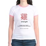 Funny Chinese Character Jr. Ringer T-Shirt