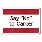 Say No to Cancer Banner