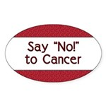 Say No to Cancer Oval Sticker (50 pk)
