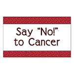 Say No to Cancer Rectangle Sticker 50 pk)