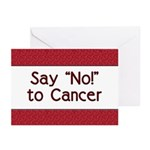 Say No to Cancer Greeting Cards (Pk of 20)