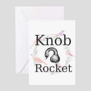 Knob Rocket Greeting Cards