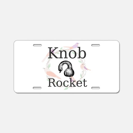 Knob Rocket Aluminum License Plate