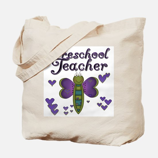 Butterfly Preschool Teacher Tote Bag