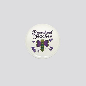 Butterfly Preschool Teacher Mini Button