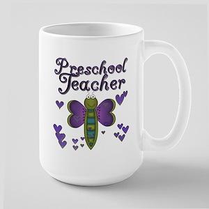 Butterfly Preschool Teacher Large Mug