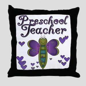 Butterfly Preschool Teacher Throw Pillow