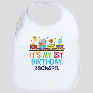 Circus Animal 1st Birthday Baby Bib