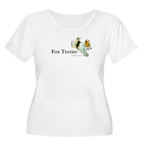Flying Fox Terrier Women's Plus Size Scoop Neck T-