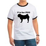 P is for Pug (Men's) Ringer T