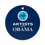 ARTISTS FOR OBAMA Ornament (Round)