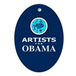 ARTISTS FOR OBAMA Oval Ornament