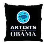 ARTISTS FOR OBAMA Throw Pillow