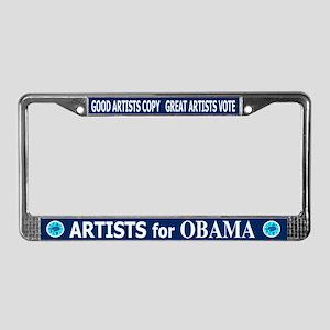 ARTISTS FOR OBAMA License Plate Frame