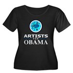 ARTISTS FOR OBAMA Women's Plus Size Scoop Neck Dar