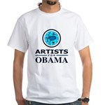 ARTISTS FOR OBAMA White T-Shirt