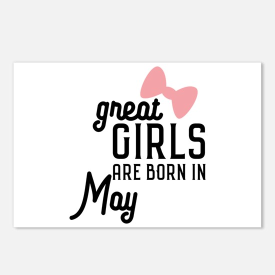 Great Girls are born in M Postcards (Package of 8)
