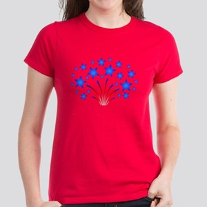 Stars & Stripes 4th of July Women's Dark T-Shirt