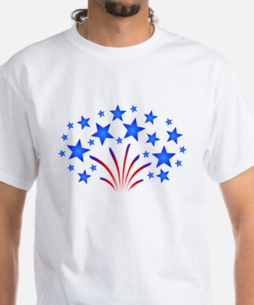 Stars & Stripes 4th of July White T-Shirt