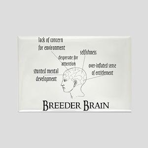 Breeder Brain Rectangle Magnet