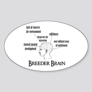 Breeder Brain Oval Sticker