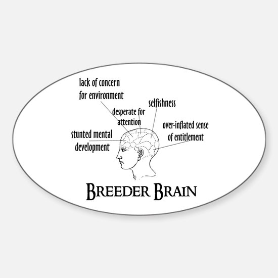 Breeder Brain Oval Decal