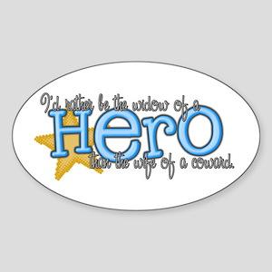 Fallen Hero Oval Sticker