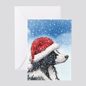 His Holiday Hat in the Snow Greeting Card