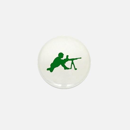 Machine Gunner Toy Soldier Mini Button