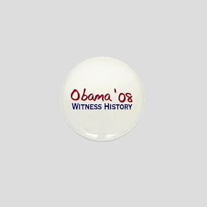 Obama 08 Witness History Mini Button