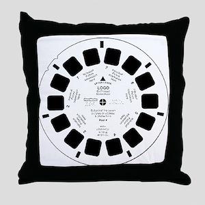 Viewfinder disk Throw Pillow