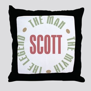 Scott Man Myth Legend Throw Pillow