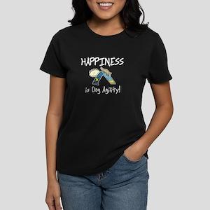 Happy Agility Dog Women's Dark T-Shirt