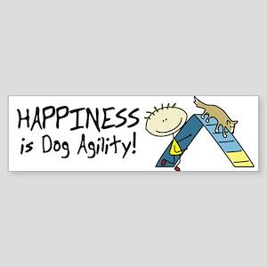 Happy Dog Agility Bumper Sticker