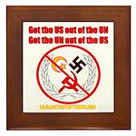 Get Out Of the United Nations Framed Tile